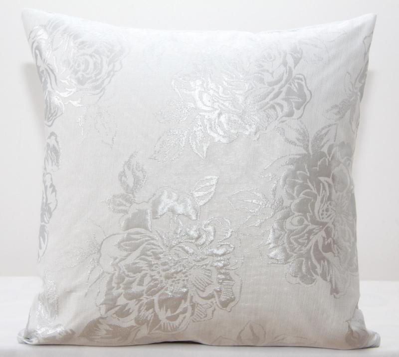 Białe Dekoracyjne Poszewki 40x40 Z Ornamentem