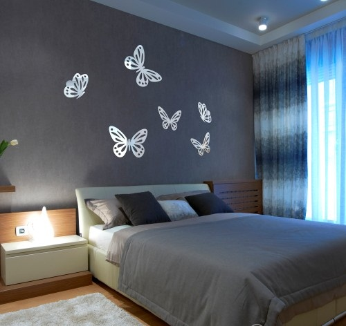 Motyle Dekoracyjne Akrylowe Lustro