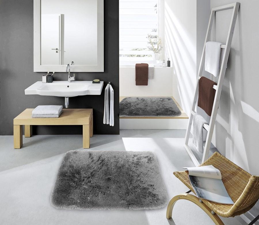 Dekoracyjne Najnowsze Dywaniki 50x70 Do łazienki W Kolorze Szarym