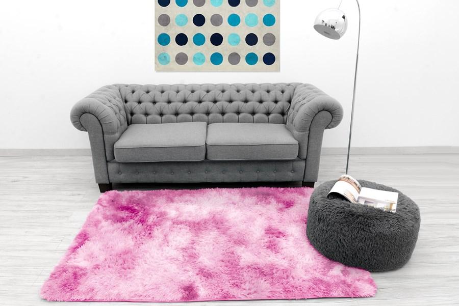 e5483502bf67 Dekoracyjne pluszowe ombre dywany w kolorze jasno różowym do sypialni  140x200 empty