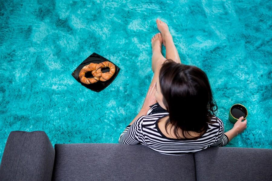 Unikalne Pluszowe dywany | Dekoracyjny morski pluszowy miękki dywan na LV27