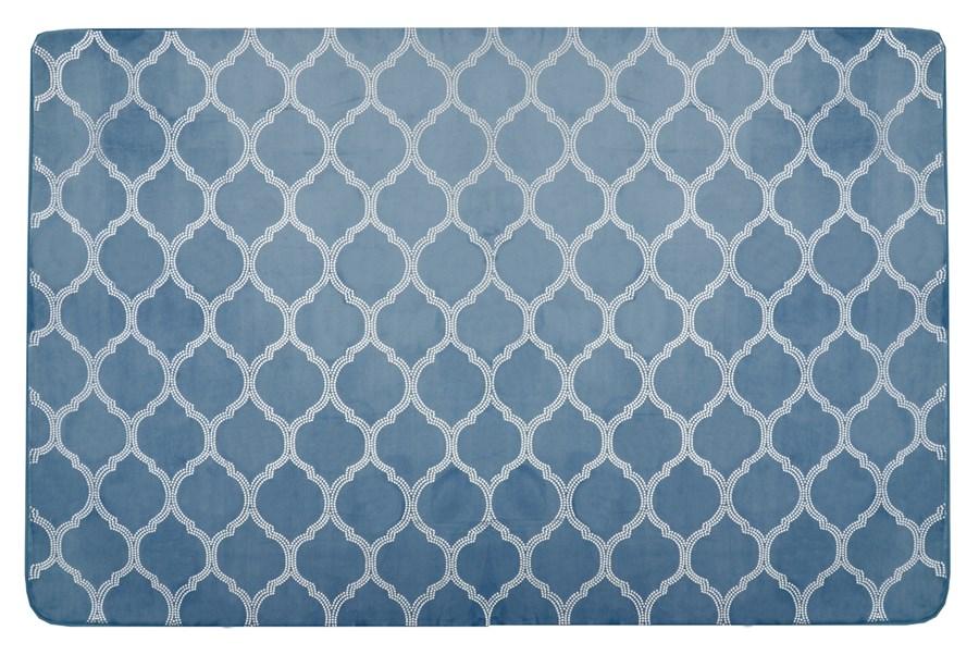 75420a126722 140x200 antypoślizgowe pluszowe dywany przyjemne w dotyku koloru  niebieskiego empty