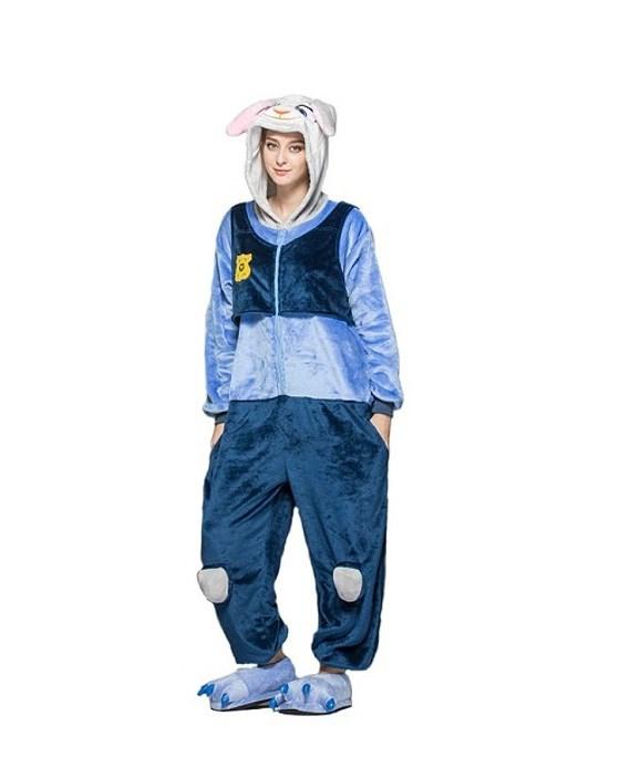 9d3fafc13cdd2b Kigurumi | Ciepły kombinezon piżama w kolorze niebieskim policjantka ...