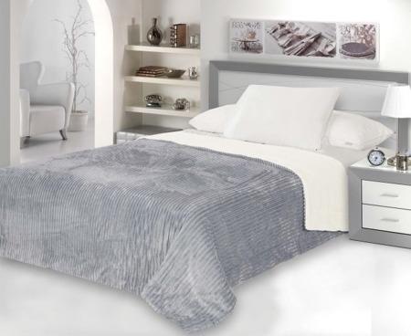 Dwustronna Narzuta Na łóżko W Kolorze Szaro Kremowym