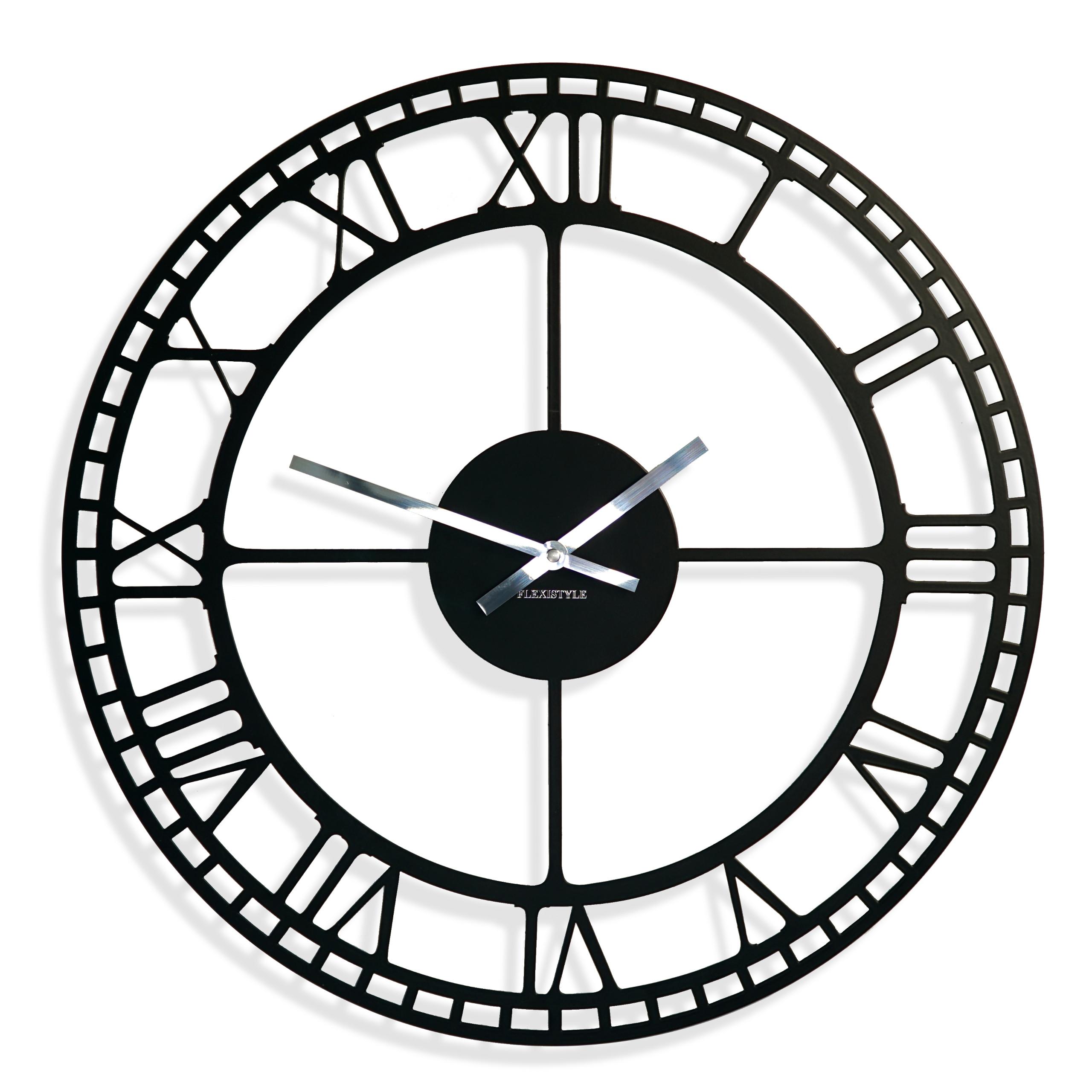 Ozdobne Czarne Zegary ścienne