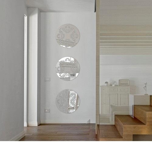 Okrągłe I Owalne Lustra Lustro Dekoracyjne Na ścianę Do